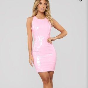 Bubblegum Pink Latex Dress